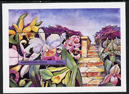 Azerbaijan 1995 Orchids m/sheet unmounted mint