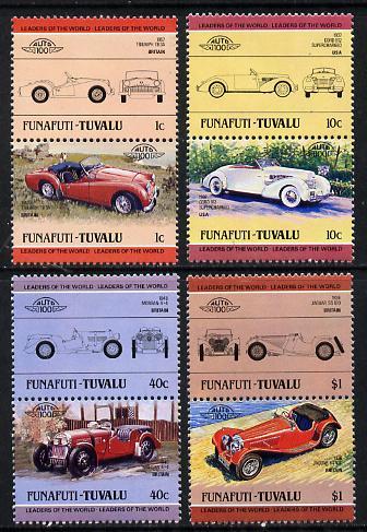 Tuvalu - Funafuti 1984 Cars #1 (Leaders of the World) set of 8 unmounted mint