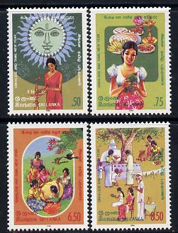 Sri Lanka 1986 Sinhalese & Tamil New Year set of 4 unmounted mint, SG 934-7