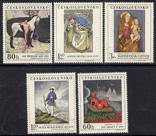 Czechoslovakia 1968 Art (3rd issue) set of 5 unmounted mint, SG 1790-94, Mi 1839-43