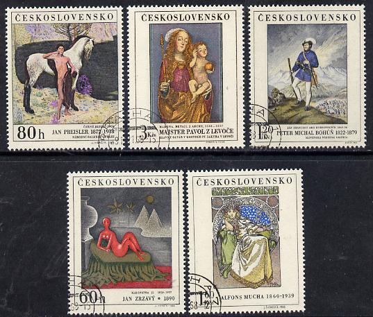 Czechoslovakia 1968 Art (3rd issue) set of 5 fine cds used, SG 1790-94, Mi 1839-43