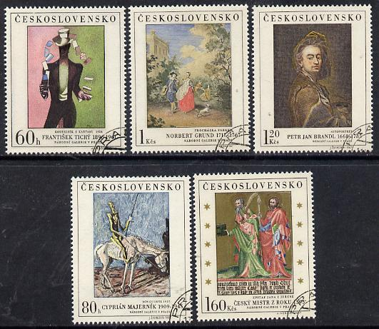 Czechoslovakia 1967 Art (2nd issue) set of 5 fine cds used, SG 1699-1703, Mi 1748-52