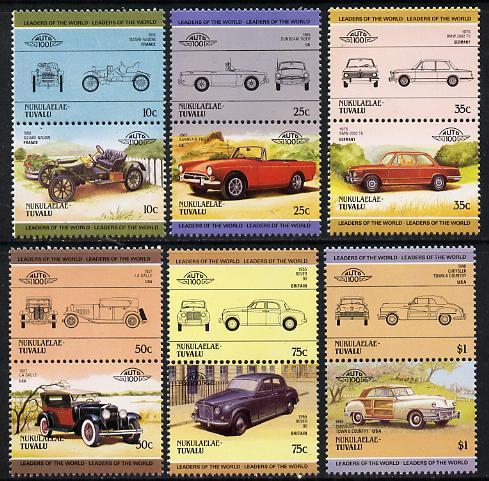 Tuvalu - Nukulaelae 1985 Cars #2 (Leaders of the World) set of 12 unmounted mint