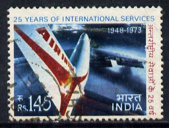 India 1973 Air India (1r 45 value) commercially used SG 686