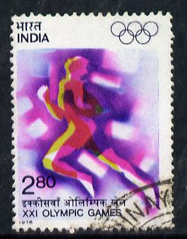 India 1976 Montreal Olympic Games 2r80 (Sprinting) commercially used, SG 817