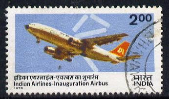 India 1976 Indian Airlines Airbus commercially used, SG 834
