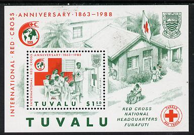 Tuvalu 1988 Red Cross m/sheet unmounted mint, SG MS 522