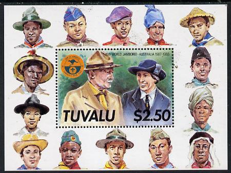 Tuvalu 1987 World Scout Jamboree m/sheet unmounted mint, SG MS 497