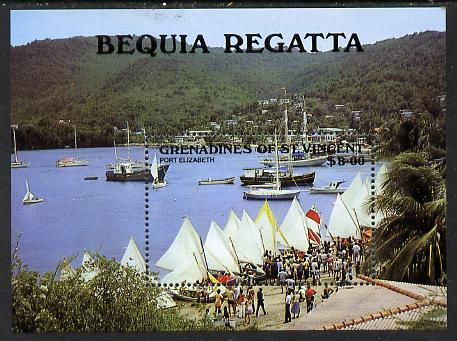 St Vincent - Grenadines 1988 Bequia Regatta m/sheet SG MS 558 unmounted mint, stamps on ships    sport    yachts