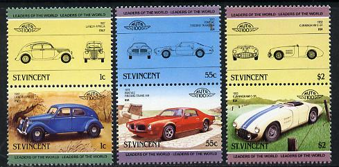 St Vincent 1985 Cars #3 (Leaders of the World) set of 6 unmounted mint SG 862-67