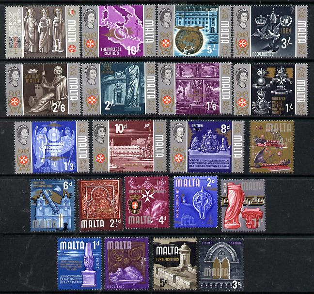 Malta 1965-70 Historical definitive set complete 1/2d to \A31 unmounted mint, SG 330-48