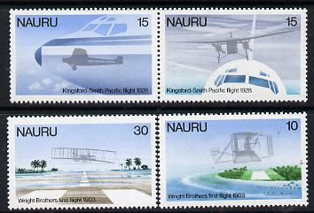Nauru 1979 Flight Anniversaries perf set of 4 (SG 200-3) unmounted mint*
