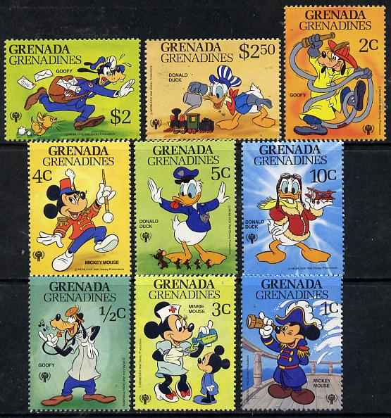 Grenada - Grenadines 1979 International Year of The Child - Walt Disney Characters set of 9 unmounted mint, SG 354-62*
