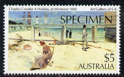 Australia 1984 Paintings $5 (Holiday by Conder) opt