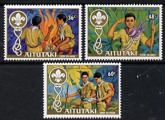 Cook Islands - Aitutaki 1983 75th Anniversary of Scouting set of 3 unmounted mint, SG 434-46*