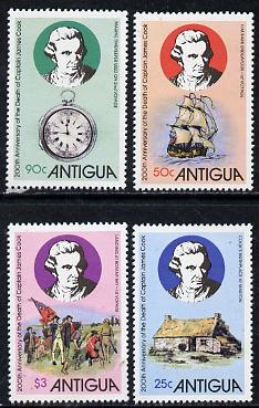 Antigua 1979 Death Bicentenary of Capt Cook set of 4 unmounted mint, SG 622-25*