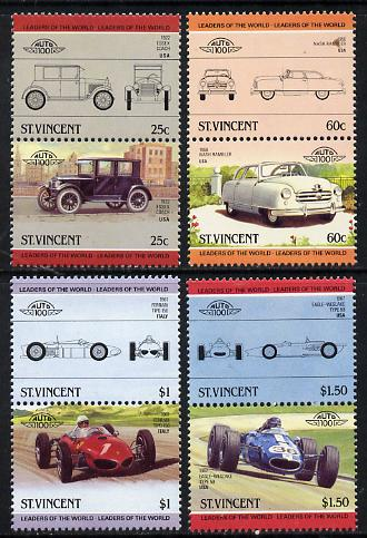 St Vincent 1985 Cars #4 (Leaders of the World) set of 8 unmounted mint SG 884-91
