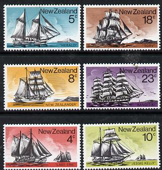 New Zealand 1975 Historic Sailing Ships set of 6 unmounted mint, SG 1069-74*