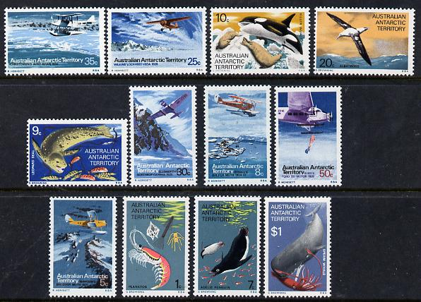 Australian Antarctic Territory 1973 Pictorial definitive set complete 1c to $1 unmounted mint, SG 23-34*