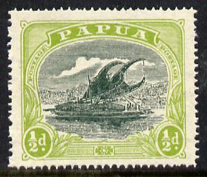 Papua 1919 Lakatoi 1/2d (Harrison printing) unmounted mint SG 93*