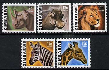 Zimbabwe 1980 Animals the set of 5 values from the Pictorial def set unmounted mint, SG 581-85*