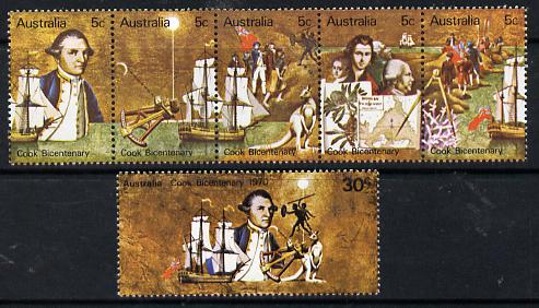 Australia 1970 Bicentenary of Cook's Discovery set of 6 unmounted mint, SG 459-64