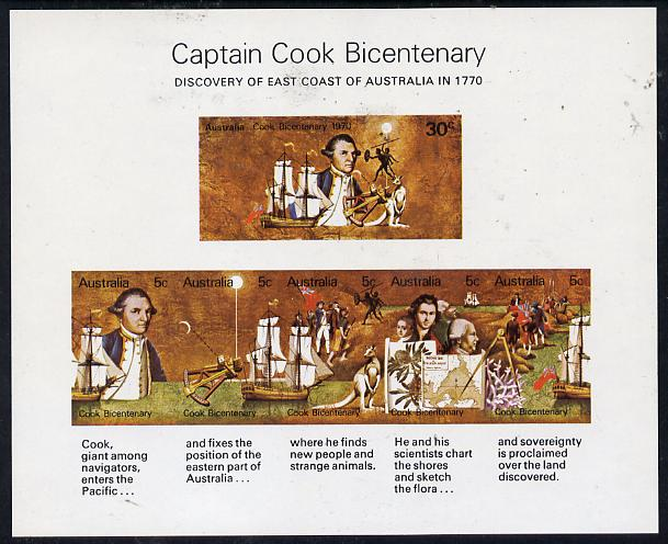 Australia 1970 Bicentenary of Cook's Discovery imperf m/sheet unmounted mint, SG MS 465