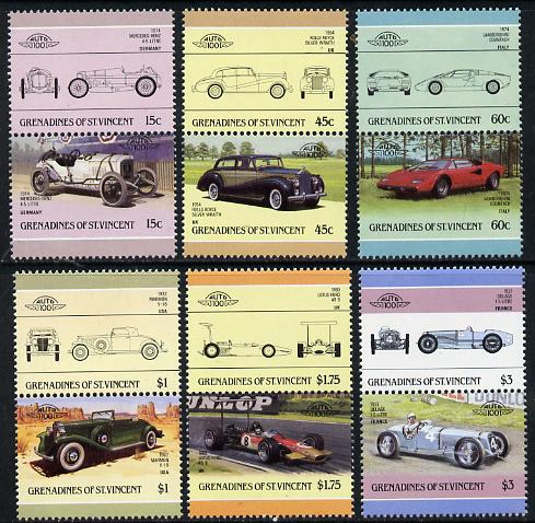 St Vincent - Grenadines 1986 Cars #3 (Leaders of the World) set of 12 unmounted mint SG 431-42