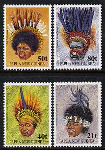 Papua New Guinea 1991 Tribal Headresses set of 4 unmounted mint, SG 658-61