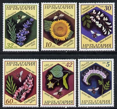 Bulgaria 1987 Flowers perf set of 6 unmounted mint, SG 3448-53, Mi 3582-87