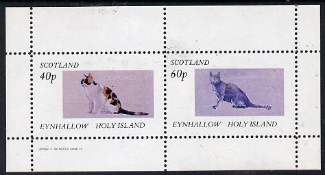 Eynhallow 1982 Cats perf  set of 2 values (40p & 60p) unmounted mint
