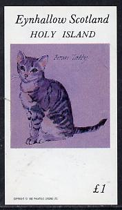 Eynhallow 1982 Brown Tabby Cat imperf souvenir sheet (�1 value) unmounted mint