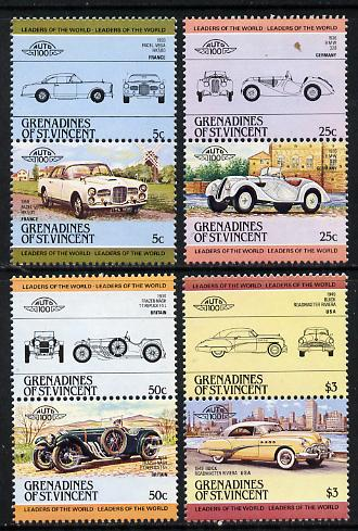 St Vincent - Grenadines 1984 Cars #1 (Leaders of the World) set of 8 unmounted mint, SG 339-46