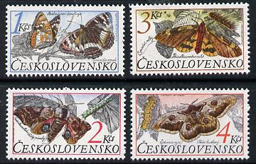 Czechoslovakia 1987 Butterflies & Moths set of 4 unmounted mint, SG 2871-74, Mi 2902-05