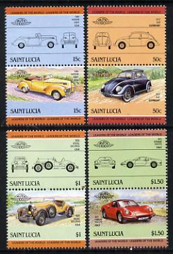 St Lucia 1985 Cars #3 (Leaders of the World) set of 8 unmounted mint, SG 789-96