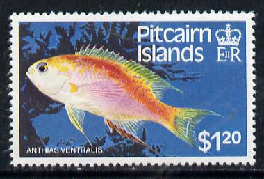 Pitcairn Islands 1984 Fish $1.20 with wmk s/ways inverted SG 257w unmounted mint*