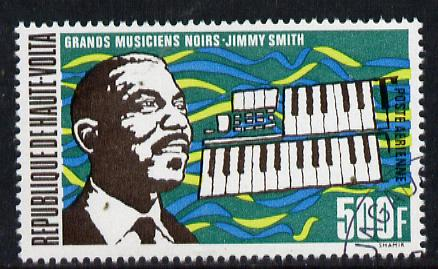 Upper Volta 1972 Famous Negro Musicians 500f Jimmy Smith (Jazz Organist) fine used, SG 367