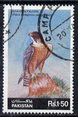 Pakistan 1986 Wildlife Protection (13th Series) 1r50 Falcon commercially used, SG 691