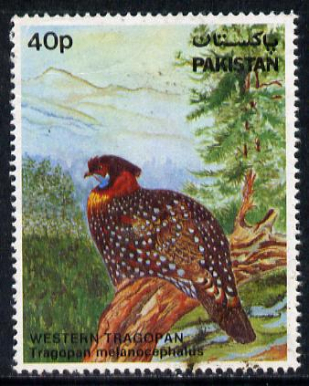 Pakistan 1981 Wildlife Protection (7th Series) 40p Tragopan commercially used, SG 572