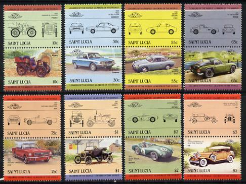 St Lucia 1984 Cars #2 (Leaders of the World) set of 16 (SG 745-60) unmounted mint