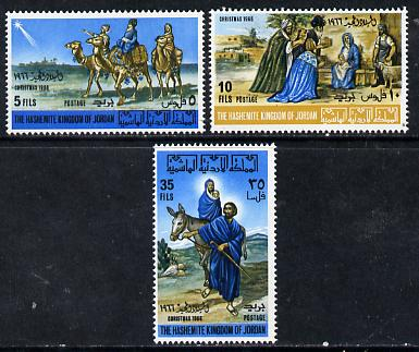Jordan 1966 Christmas set of 3 unmounted mint, SG 771-3