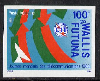 Wallis & Futuna 1988 World Telecommunications Day imperf proof from limited printing, as SG 532*