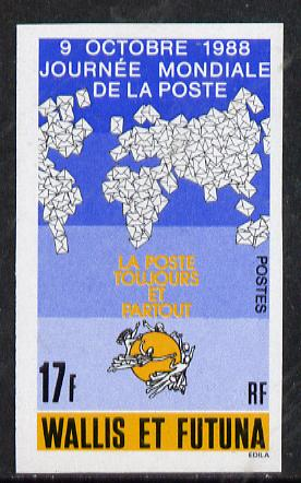 Wallis & Futuna 1988 World Post Day imperf proof from limited printing, as SG 539*