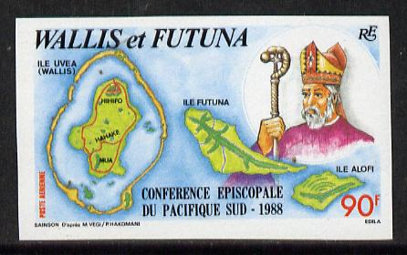 Wallis & Futuna 1988 South Pacific Episcopal Conference imperf proof from limited printing, as SG 533*