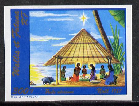 Wallis & Futuna 1987 Christmas (Nativity Scene with Pig) imperf proof from limited printing, as SG 527*