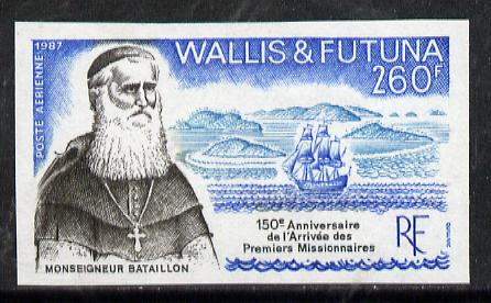 Wallis & Futuna 1987 150th Anniversary of First Missionaries imperf proof from limited printing, as SG 526*