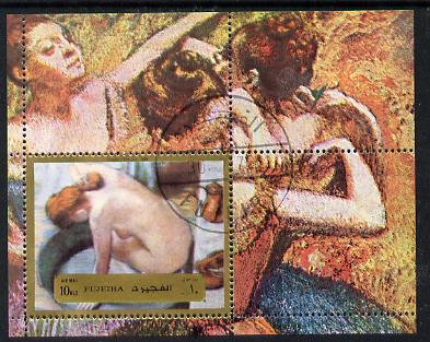 Fujeira 1972 Paintings by Degas (Nude) m/sheet (Mi BL 123A) cto used
