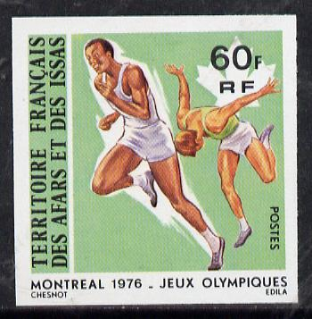 French Afars & Issas 1976 Montreal Olympics 60f Running imperf from limited printing unmounted mint, as SG 671*