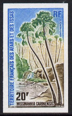 French Afars & Issas 1975 Palm Tree 20f imperf from limited printing unmounted mint, as SG 661*