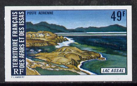 French Afars & Issas 1974 Lake Assal (49f Sunrise over lake) imperf from limited printing unmounted mint, as SG 618**